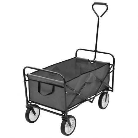 Folding Hand Trolley Steel Grey