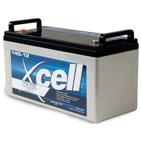 X-CELL AGM Deep Cycle Battery 12V 145Ah Portable Sealed