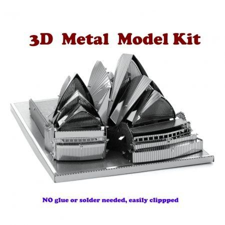 3D DIY Metal Model Kit Sydney Opera House