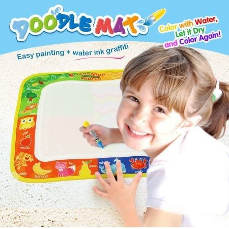 29 X 19 Cm  Water Drawing Painting Mat Board with Magic Pen Doodle Early Learning Educational Toy