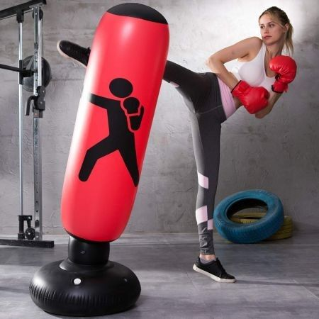 Home Fitness Inflatable Punching Bag with Foot Pump 1.6m Get one Free foot pump