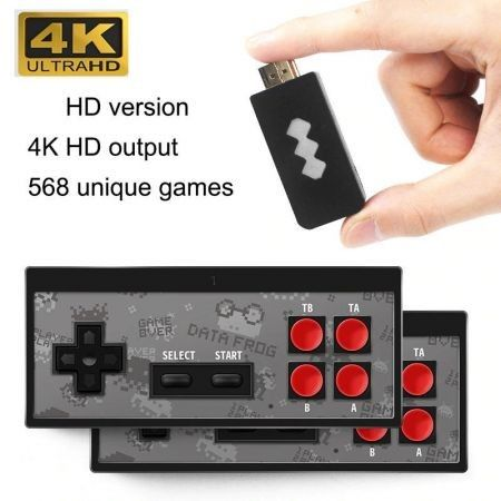 USB Wireless Game Console TV VideoBuild In 568 Classic Game  Support AV/HDMI Output