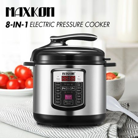 8-in-1 Aluminum Electric Pressure Cooker 6L 1000W - Silver