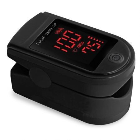 Pro Series 500DL Fingertip Pulse Oximeter Blood Oxygen Saturation Monitor with Silicon Cover( Black)