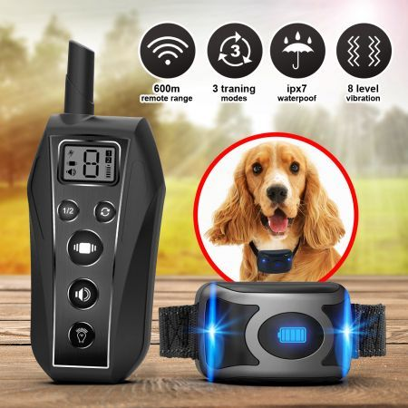 Remote Anti Bark Collar Rechargeable Dog Training Collar 3 Training Modes