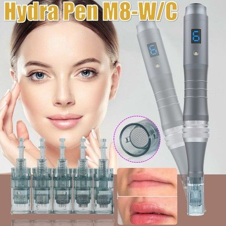 Wireless Hydra Microneedling Pen With Digital Display Exclusive Cartridge with 2 16pins