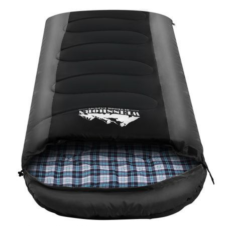 Weisshorn Sleeping Bag Bags Single Camping Hiking -20?C to 10?C Tent Winter Thermal Grey