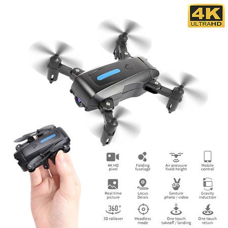 4K HD Camera Mini RC drone 15 mins Flight Time Pro selfie 360 rotation for Beginners and Age14+