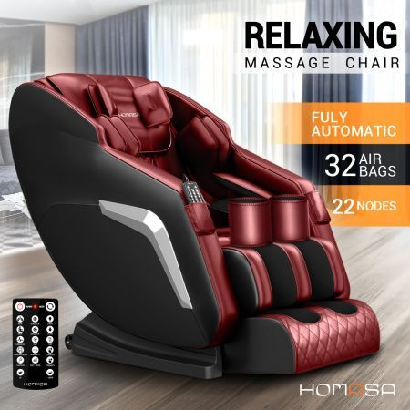 HOMASA Red Full Body Massage Chair Zero Gravity Recliner