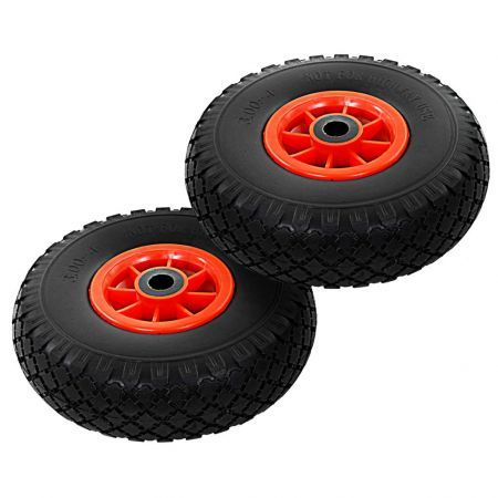 Sack Truck Wheels 2 pcs Solid PU 3.00-4