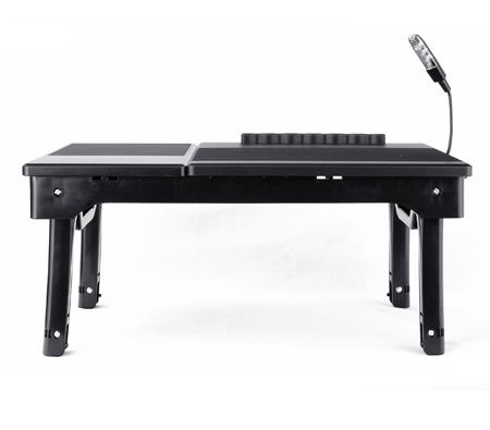 Black Portable Ergonomic Multifunctional USB Laptop Desk