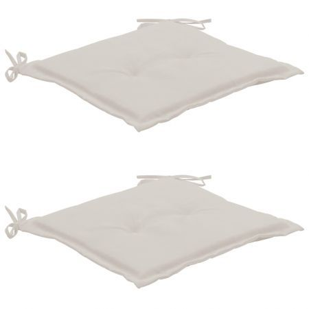 Garden Chair Cushions 2 pcs Cream 50x50x3 cm