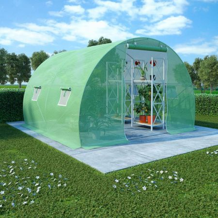 Greenhouse with Steel Foundation Garden Shed Storage Tunnel Plant 3x2 m