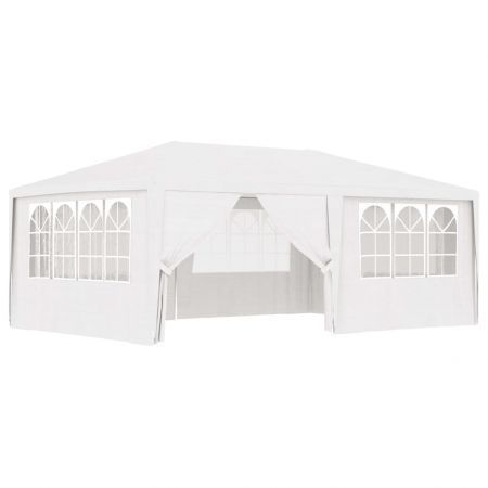 Professional Party Tent with Side Walls 4x6 m White 90 g/m?