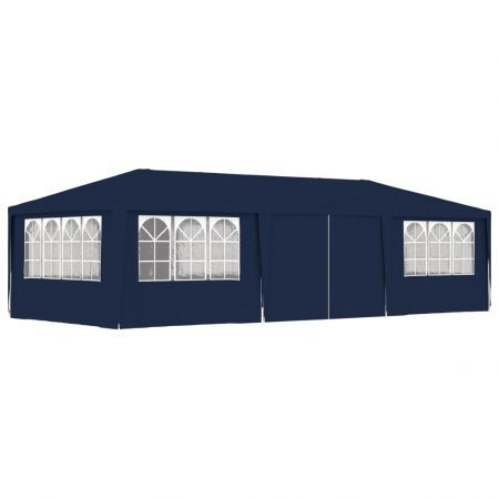 Professional Party Tent with Side Walls 4x9 m Blue 90 g/m?