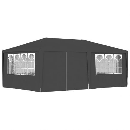 Professional Party Tent with Side Walls 4x6 m Anthracite 90 g/m?