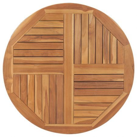 Table Top Solid Teak Wood Round 2.5 cm 90 cm