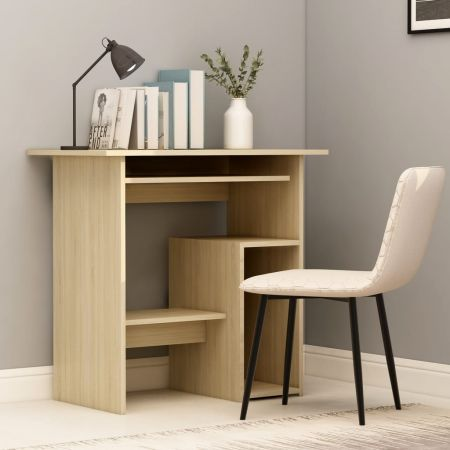 Desk Sonoma Oak 80x45x74 cm Chipboard