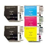 Brother LC-38 / LC-67 Compatible Inkjet Cartridge Set  5 Ink Cartridges