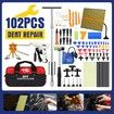 Professional 102 Pieces PDR Paintless Dent Repair Tool Kit Car Dent Removal Puller