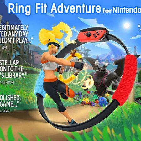 Ring Con and Leg Strap for Switch Ring Fit Adventure Game Joy Con Controllers