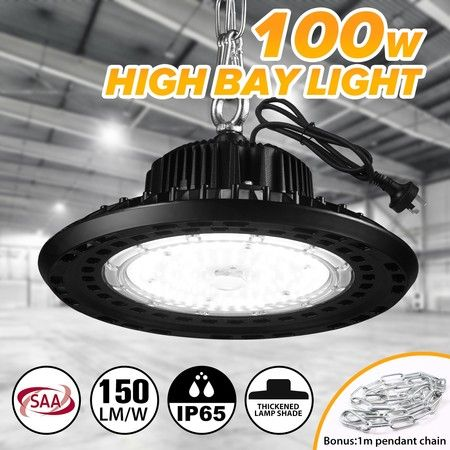 100W UFO LED High Bay Light 15000LM 5000K Aluminium Thickened Lamp Cover