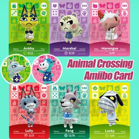 24PCS Animal Crossing New Horizons Game Amiibo Card For NS Switch NFC Cards Hot Villager Marshal Series 1 2 3 4