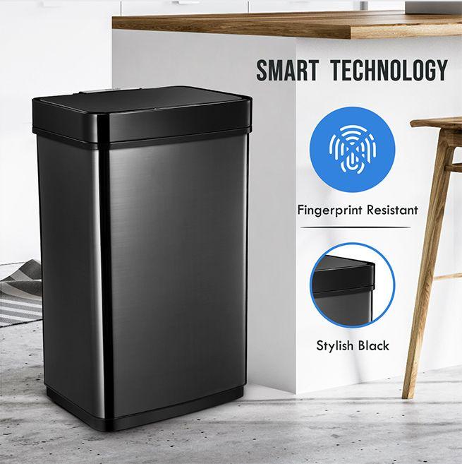 60l Sensor Bin Automatic Trash Can Touch Free Kitchen Garbage Bin Crazy Sales