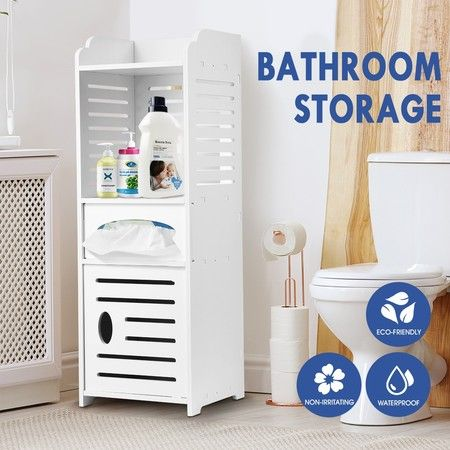 Bathroom Cabinet Storage Shelf for Toiletries Toilet Paper Shampoo Toothbrush Soap