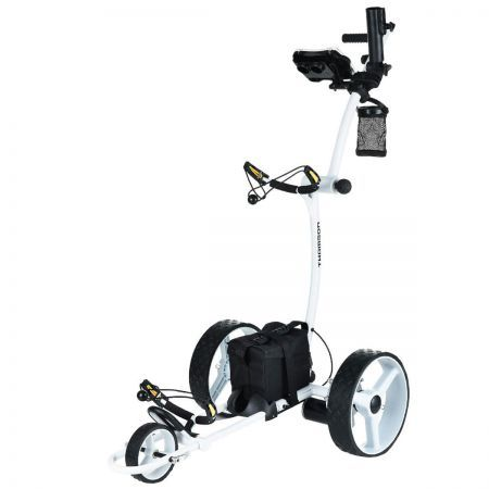 THOMSON Electric Golf Buggy Motorised Battery Powered Trolley Operated Trundler