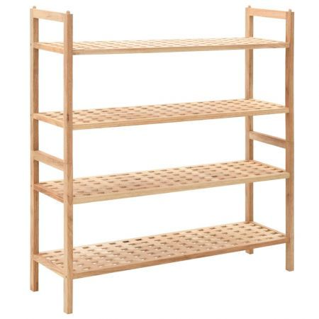 Shoe Rack Solid Walnut Wood 69x26x81 cm