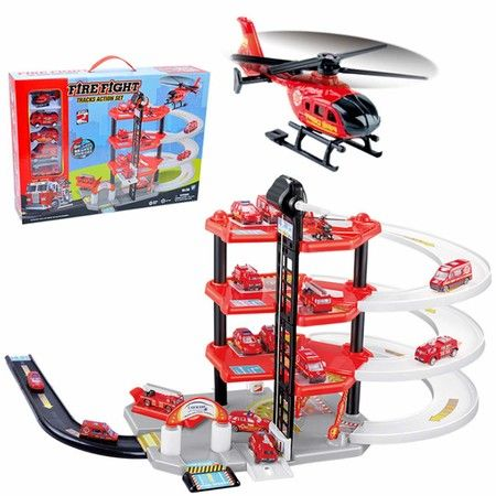 Tracks Action Set Fire Fight Station Parking Lot Kid toys