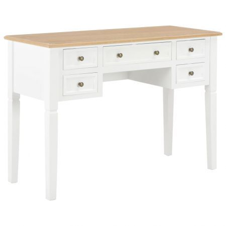 Writing Desk White 109.5x45x77.5 cm Wood