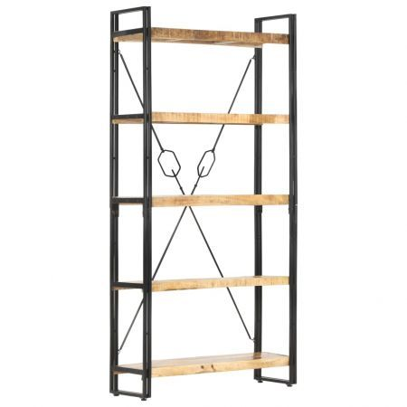 5-Tier Bookcase 90x30x180 cm Solid Mango Wood