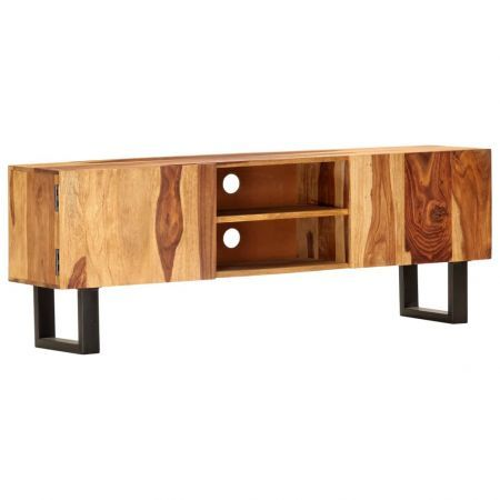 TV Cabinet 130x30x47 cm Solid Acacia Wood