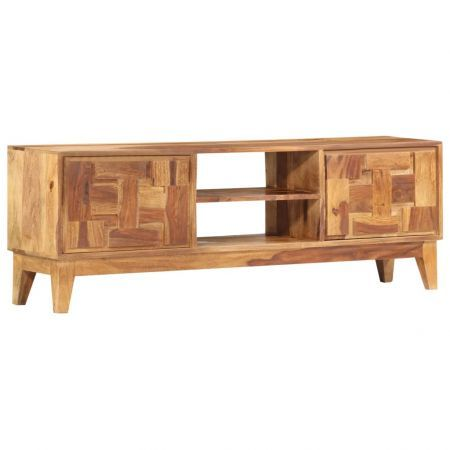 TV Cabinet 130x30x45 cm Solid Sheesham Wood