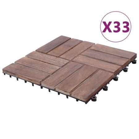 Decking Tiles 33 pcs 30x30 cm Solid Reclaimed Wood