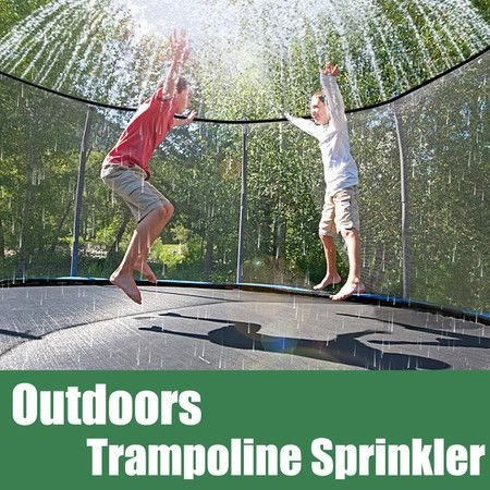 Trampoline Sprinkler Spray Fun for Kids Yard Outside 15mm*12Nozzles