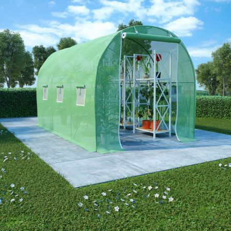 Greenhouse with Steel Foundation 6.86 m² 3.43x2x2 m