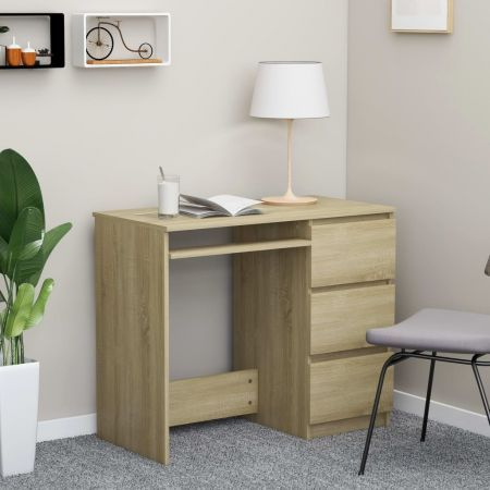 Desk Sonoma Oak 90x45x76 cm Chipboard