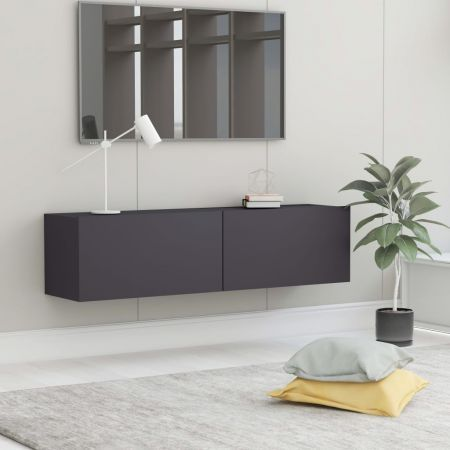 TV Cabinet Grey 120x30x30 cm Chipboard
