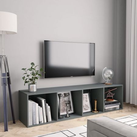 Book Cabinet/TV Cabinet Grey 143x30x36 cm