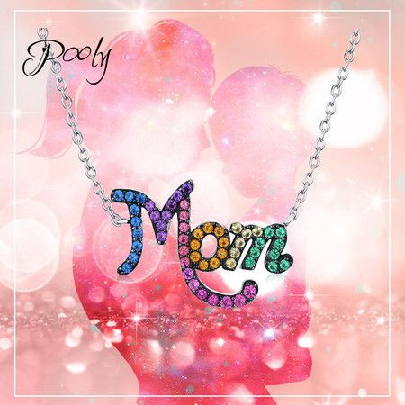 Pony S925 Silver White Gold plating Nano Necklace To Mom