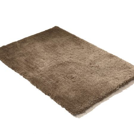 Ultra Soft Anti Slip Rectangle Plush Shaggy Floor Rug Carpet in Taupe 90x150cm