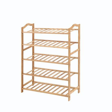 Levede Bamboo Shoe Rack Storage Wooden Organizer Shelf Stand 5 Tiers Layers 70cm
