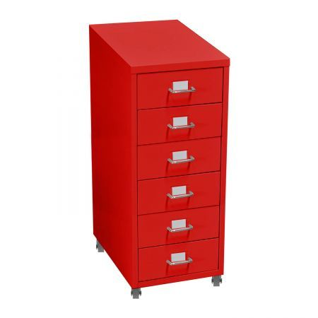 6 Tiers Steel Orgainer Metal File Cabinet With Drawers Office Furniture Red