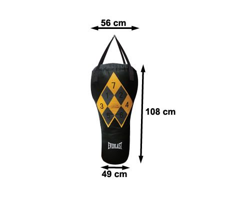 Everlast 108cm Teddy Atlas Uppercut Workout System Heavy Duty Boxing  Punching Bag with BONUS CD & Bag Gloves Mitts Combo Boxing Training  Exercise Set