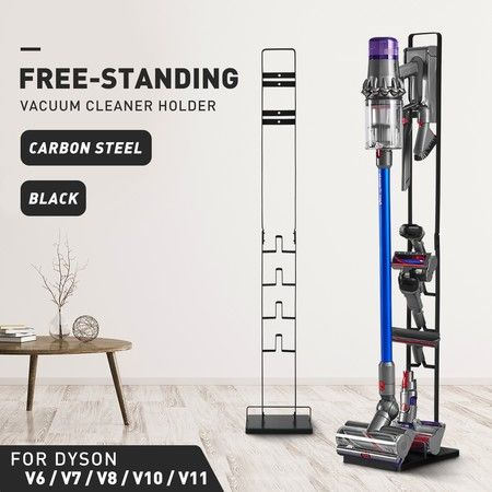 Dyson Vacuum Stand Rack Cleaner Accessories Holder Free Standing V6 V7 V8 V10 V11 Black