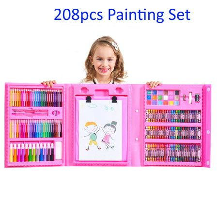 208 Pcs Drawing Set Children Painting Art Set Kit