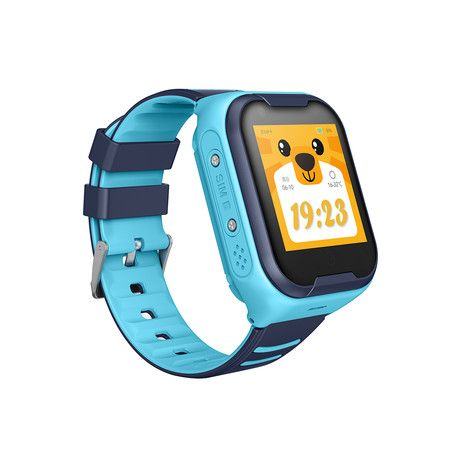Kids A36E Smart Watch Child Phone with Waterproof GPS Tracker Device Baby Safety Lost-Proof Activity Monitor (Blue Pink) (Blue)